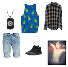 """""""Lanny Summer, Summer Chapter 14"""" by cece-volcanoes on Polyvore featuring Topman, Mowgli Surf, Converse, men's fashion and menswear"""