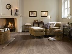 wide plank hand scraped laminate flooring white oak - Google Search