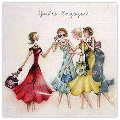 Engaged , Ladies Who Love Life ... Berni Parker funny cute art  Senhoras que amam a vida ... Berni Parker
