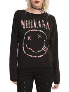 Nirvana Floral Smiley Girls Top.....I WAAANT IIIIT!!! @hottopic.com