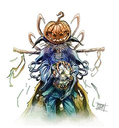 Halloween Scarecrow by Nezart