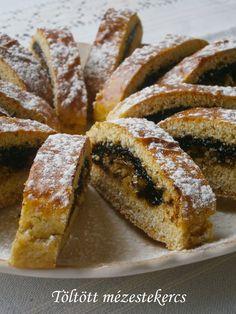 Töltött mézestekercs Sweet Cookies, Cake Cookies, Hungarian Cuisine, Biscotti, Main Dishes, French Toast, Goodies, Rolls, Cooking