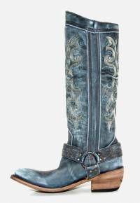 Women's Liberty Black Vintage Boots Azul Cielo