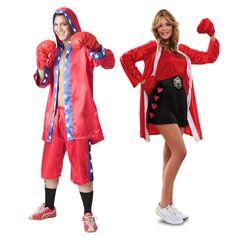 Pareja de Boxeadores Rojos #parejas #disfraces #carnaval