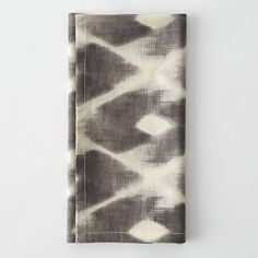 Ikat Diamond Napkin Set #WestElm  Window treatment