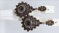 Black Onyx Silver Earrings, Sterling Silver Earrings , Silver Earrings , White Zircon Earrings , Rose silver Earrings by Rosestyle on Etsy