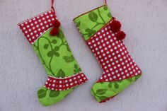Hey, I found this really awesome Etsy listing at https://www.etsy.com/listing/484194022/green-christmas-stockings-red-stocking