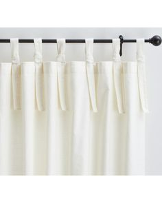 Textured Cotton Tie-Top Drape