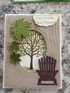 33 Trendy wish tree diy stampin up Masculine Birthday Cards, Birthday Cards For Men, Handmade Birthday Cards, Greeting Cards Handmade, Masculine Cards, Birthday Wishes, Happpy Birthday, Retirement Cards, Retirement Planning
