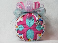 Quilted pet ornament  no sew  white with paw by KCFabricOrnaments, $15.00