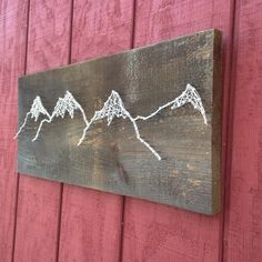 We decide to make another mountain landscape since our first one sold the same day that we posted it. These are the most fun to make by far!  #mountain #mountains #mountainrange #landscape #maine #newengland #outdoors #crookedtreetraders #handmade #crafty #nailedit #woods #camp #climb #hike #hiking #climbing #ski #ride #snowboard #rugged #peak #mountaintop #nature #rocky #homedecor #sign #original