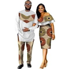 African Style Clothing Family Couple Man Shirt-Pnts Woman Dress Dashiki Cotton Wax – WOW S… – African Fashion Dresses - 2019 Trends Couples African Outfits, African Clothing For Men, African Shirts, African Dresses For Women, African Print Dresses, African Attire, African Wear, Trendy Clothing, African Women