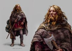 Viking Warrior illustrated by Norwegian concept artist Stian Dahlslett ©'Heimskringla', also called the Norwegian Kings' Sagas were written down by the Icelander Snorri Sturlason around the year Dark Fantasy, Fantasy Rpg, Medieval Fantasy, Viking Warrior, Art Viking, Viking Character, Character Art, Character Design, Fantasy Inspiration