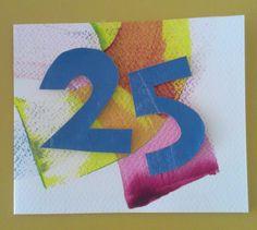 Acrylverf, balsahout en cijfers uit papier. Ontwerp Marjolein Copius Peereboom