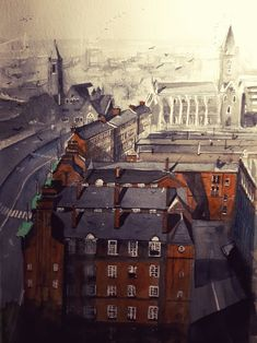 Original Watercolour paintings by Cathal O'Briain. A collection of recently completed art depicting Dublin city life, its people, past, culture, spirit, history, architecture, evolution, and day to day living of its citizens.