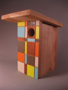 Mid Century Modern birdhome. Original creation by by ChurpModern