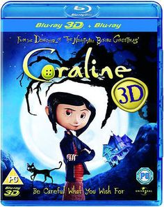 #Coraline 3d - #blu-ray - #animation - new,  View more on the LINK: http://www.zeppy.io/product/gb/2/301737767432/