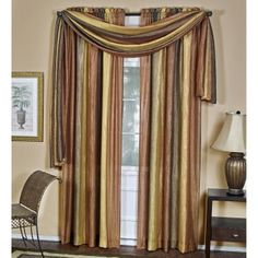 images of three window dining room curtains | Achim Ombre Window Scarf - Curtains at Hayneedle