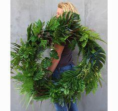 bardzo duży wianek na drzwi, Modern Glamour Herbs, Wreaths, Diy, Handmade, Instagram, Shopping, Decorations, Easter, Do It Yourself