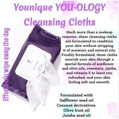 Younique You.ology Cleansing Cloths Are a great pre-wash to remove your make-up. Works great for a quick process and removes eye make great! Anti Aging, Fashion Models, Fashion Trends, Eyeliner, Makeup Remover Wipes, Makeup Removers, Clear Skin Tips, Younique Presenter, Mascara Tips