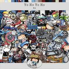 SoMa Design: Yo Ho Yo Ho - Kit Digital Scrapbooking, Pirates, Kit, Baseball Cards, Design, Shop, Store