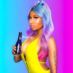 Nicki Minaj - Nicki Minaj The Boys feat Cassie Singles Cover Nicki Minaj Bikini, Nicki Minaj Rap, Nicki Minaj Outfits, Nicki Minja, Nicki Minaj Barbie, Nicki Minaj Drawing, Dark Curly Hair, Frizzy Hair, Dry Hair