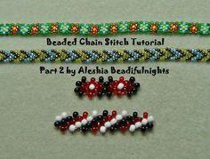 Beaded Chain Stitch Tutorial Part 2 Potawatomi