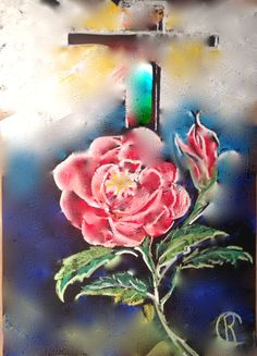 The red rose and the Etheric Cross