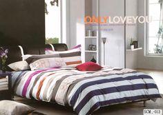 Multi color stripes 100% Cotton bedsheet