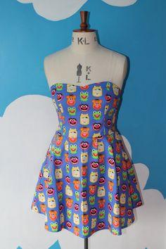 Jim Henson's muppets sweet heart dress by vampirebunnies on Etsy