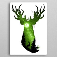 Deep in the Forest metal poster