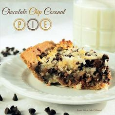 Chocolate Chip Coconut Pie  2 C. Coconut 1&1/2 C. Milk Chocolate Chips 1- 14 oz can Sweetened Condensed Milk 1 tsp. vanilla 1/2 C preferred nuts *optional 1- Graham Cracker Pie Crust
