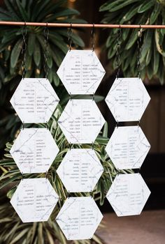 Marble hexagon seating chart