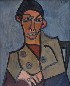 WOJCIECH FANGOR (1922 - 2015)  PORTRET, 1948   olej, płótno / 85x60 cm