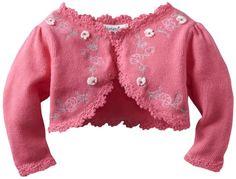 Hartstrings Baby-girls Newborn Embroidered Sweater Shrug $22.25 #bestseller