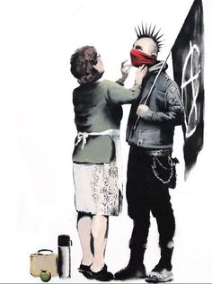 Funny pictures about Banksy. Oh, and cool pics about Banksy. Also, Banksy photos. Banksy Graffiti, Street Art Banksy, Graffiti Artwork, Bansky, Banksy Posters, Banksy Canvas, Pop Art, Urbane Kunst, Art Plastique