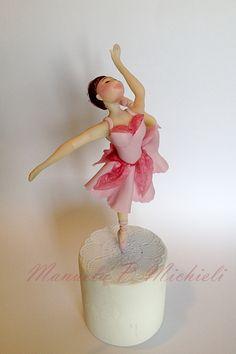 Sugar Paste Ballet Dancer by Manuela P. Michieli - ballerina topper
