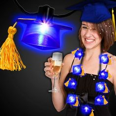 LED Graduation Necklace: Celebrate this special day with our Light Up Blue Graduation Cap Necklace!  #graduationdecoration #graduationideas #graduation2018 #lights BDIQH-LVKOU Cap Decorations, Graduation Decorations, Graduation Ideas, Graduation Necklace, Special Day, Light Up, Party Favors, Led, Celebrities