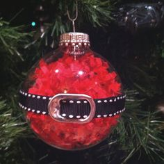 Santa's belly ornament