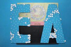 blue floral letters Floral Letters, Invitations, Blue, Decor, Decoration, Save The Date Invitations, Decorating, Shower Invitation, Invitation