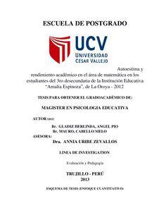 Tesis de Autoestima y Rendimiento Academico 2013 1 - Documents