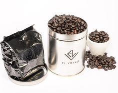 "You like coffee??? but don't like ""new"" If you are not ready to commit...then we have the perfect gift for you. 6 oz EL VOYAGE natural & pure coffee from Guatemala with a chic silver tin...available at 159 Bleecker St NYC - LOWER LEVEL @MsGlocal. come by for a free tasting Wednesday - Sunday 12 to 8 pm ;)"