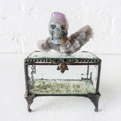 Agate Crystal Skull Jewelry Box, $227, now featured on Fab.