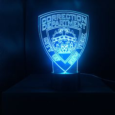 NYPD Police Gift Light - Color Changing Desk Lamp - Select Design or request your own.