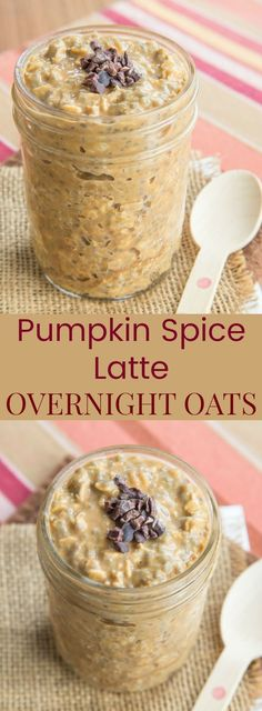 Pumpkin Spice Latte Overnight Oats - Starbucks lovers, satisfy your PSL craving with a healthy breakfast recipe. This oatmeal has coffee and pumpkin puree in it! Oats Recipes, Healthy Recipes, Healthy Breakfast Recipes, Pumpkin Recipes, Smoothie Recipes, Fodmap Breakfast, Juicer Recipes, Smoothie Cleanse, Healthy Breakfast Meals