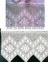 \ PINK ROSE CROCHET /: Barrado Flor em Crochê Filê
