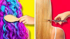 5 Minute Hairstyles, Messy Bun Hairstyles, Cute Hairstyles, Hairstyles Videos, Diy Hair Hacks, Oily Hair, Bad Hair Day, Hair Videos, Dyed Hair
