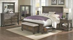 E King Storage Bed | A-America Solid Wood Furniture