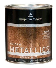Benjamin Moore's Molten Metallics imitates the look of hammered metal. I wonder if I can recreate the look of hammered cabinet doors with this?