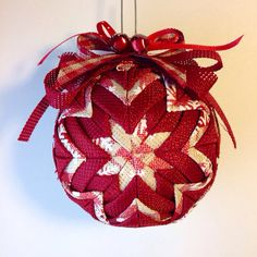 Country Christmas  Handmade Quilted Ornament by Traceritops, $15.00